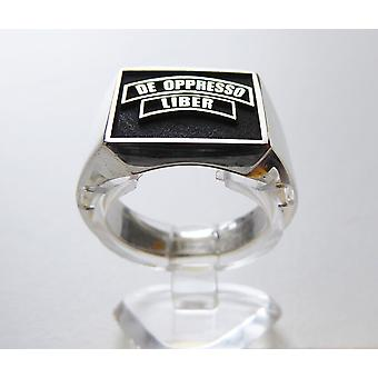 Silver seal ring The Oppresso Liber