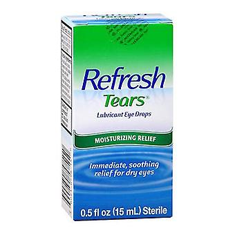 Refresh tears lubricant eye drops, moisturizing relief, 0.5 oz