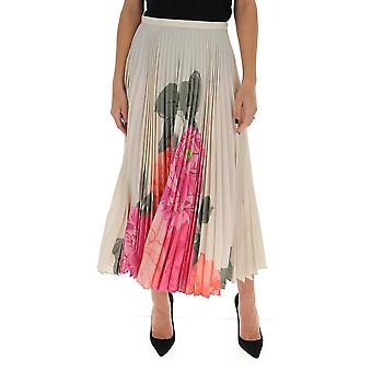 Valentino Tb3ra5k054waf2 Women's White Silk Skirt