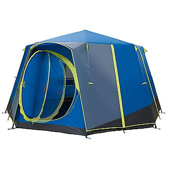 Coleman Cortes Octagon 8 Man Glamping Tent Blue/Lime