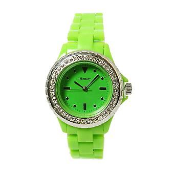 Henley Glamour Ladies Bling Lime Sports Strap Watch