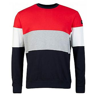 Paul And Shark Striped Arm Patch Sweatshirt