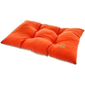 Ferribiella tvåfärgad kudde 105X65Cm Orange-brun (katter, sängkläder, sängar)