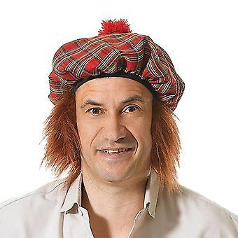Cabelo de chapéu/gengibre Tartan escocês