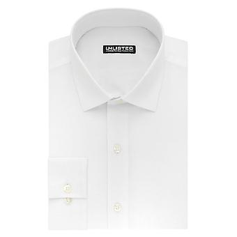 Kenneth Cole Unlisted Men's Dress Shirt Slim Fit Solid , , White, Size 16.0