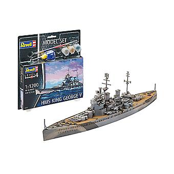 Revell 65161 1:1200 HMS King George V Kit modello di plastica