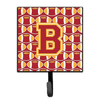 Letter B Football Cardinal and Gold Leash or Key Holder