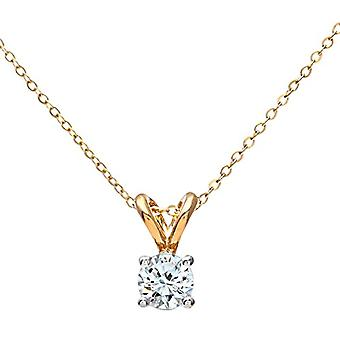 Naava Necklace with Women's Pendant - Yellow Gold - Diamond