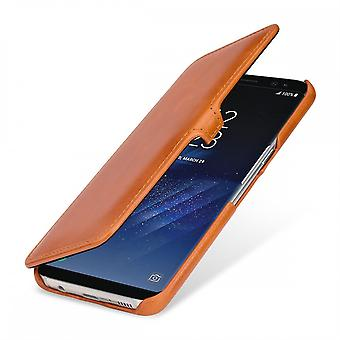 Case For Samsung Galaxy S8 Plus Book Type Cognac In True Leather