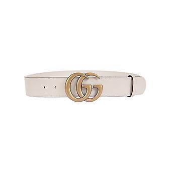 Gucci 400593ap00t9022 Women's White Leather Belt