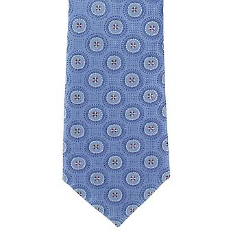 Michelsons of London Concentric Medallion Silk Tie - Blue