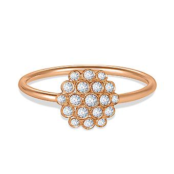 Ring Josephine 18K Gold and Diamonds - Rose Gold