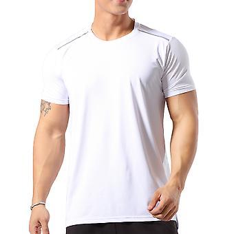 Allthemen Men-apos;s Round Neck Elastic Quick-Drying Thin Short T-Shirt