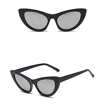 Retro Vintage Cateye Sunglasses Mirror Glass UV400