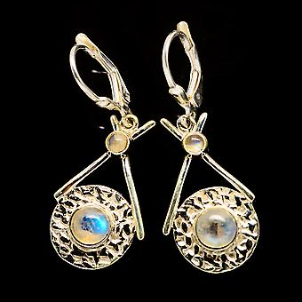 Rainbow Moonstone Earrings 1 1/2