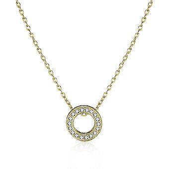 Gold circle of life necklace created with swarovski® crystals