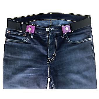 Valerio mens womens unisex buckle-free hassle-free bulge-free breathe easy genuine purple leather belt
