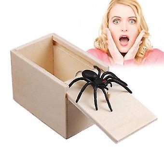 April Fool's Day Wooden Prank Trick Practical Joke - Spider In Box