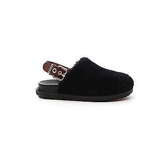 Marni Fbms009401lm071zl727 Women's Black Fur Sandals