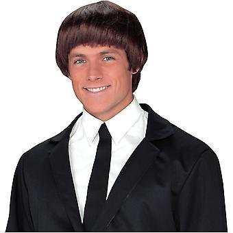 60S Band Member Brown Wig For Men - 17875