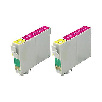 RudyTwos 2x Replacement for Epson Seahorse Ink Unit LightMagenta Compatible with Stylus Photo R200, R220, R300, R300M, R320, R325, R330, R340, R350, RX300, RX320, RX500, RX600, RX620, RX640