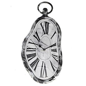 Modern Home Salvador Dali Inspired Melting Wall Clock - Marble Style Finish - Kitchen/Office/Bedroom Timepiece