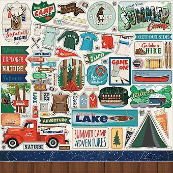 كارتا بيلا مخيم الصيف 12x12 بوصة ملصقا عنصر