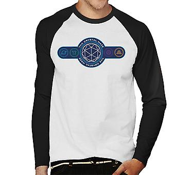 The Crystal Maze Logo Coloured Symbols Men's Baseball Long Sleeved T-Shirt