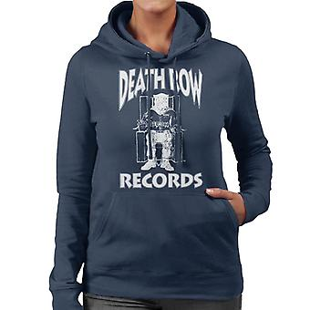Death Row Records Chair Logo White Women's Hooded Sweatshirt
