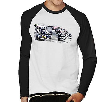 Motorsport Images San Marino GP 2005 Starting Shot Hommes-apos;s Baseball Long Sleeved T-Shirt