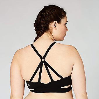 Core 10 Frauen's Icon Series - Die Ballerina Sport BH, schwarz, schwarz, Größe 12.0