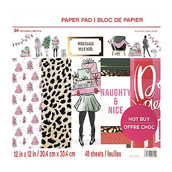 Craft Smith Miss Claus 12x12 Inch Paper Pad