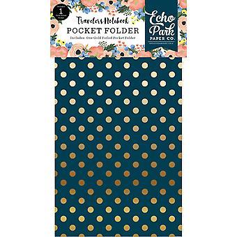 Echo Park Fancy Flora Travelers Notebook Pocket Folder Insert