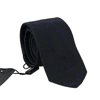 Dolce & Gabbana purpurový hedvábný černý Květinové tisk klasická kravata--KRA3872560