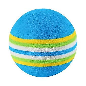 Interactive Pet Kitten Scratch Natural Foam Rainbow Colorful Training Ball Supplies