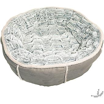 40 Winks Deep Plush Donut Bed - Grey - 50.5cm (20 inch)