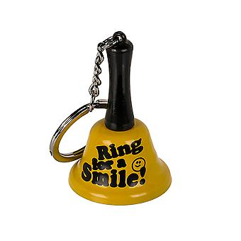 Ring for a Smile - Mini Metal Bell Keyring - Cracker Filler Gift