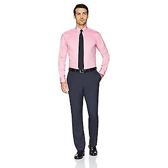 BUTTONED أسفل الرجال & ق تناسب تناسب زر ذوي الياقات البيضاء الصلبة غير الحديد اللباس قميص, بي ...