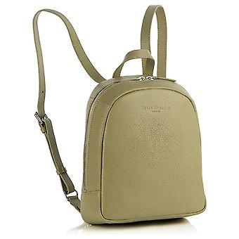 Poppy Mini Leather Backpack in Sage Green Richmond Chrome Free Leather