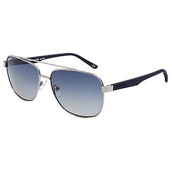 Sunglasses Unisex Aviator polarized silver/matt blue (P75748)