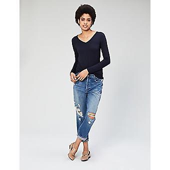 Marke - Daily Ritual Women's Jersey Long-Sleeve V-Neck T-Shirt, Navy, ...