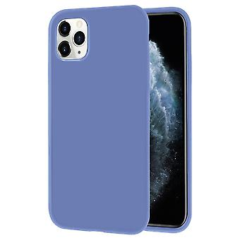 Soft Thin Mobile Case for iPhone 11 Pro Lightly Solid Color Silicone Ultra-Slim Purple