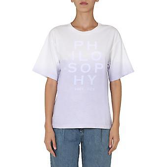 Filosofia Por Lorenzo Serafini 070171461276 Women's Lilac Cotton T-shirt