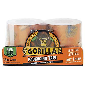 Gorilla Glue Gorilla Packaging Tape 72mm x 27m Refill Pack of 2 GRGPKTAPE27