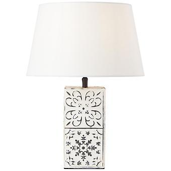 LUCES interiores de crema de lámpara de mesa BRILLIANT Lamosa, lámparas de mesa, -decorativas ? 1x A60, E27, 40W, adecuado para lámparas normales