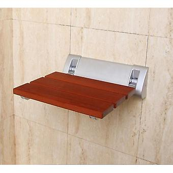 Wall Mounted Shower Seat Solid Wood Folding Seat Bathroom Shower Relax Chair