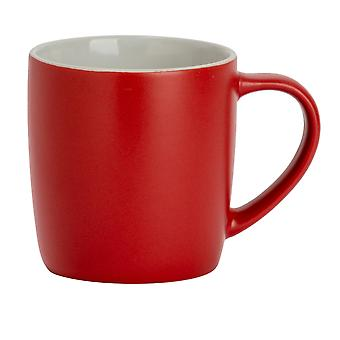 Argon Tableware Matt Tea and Coffee Mug - Modern Style Porcelain Cappuccino Latte Cup - Red - 350ml