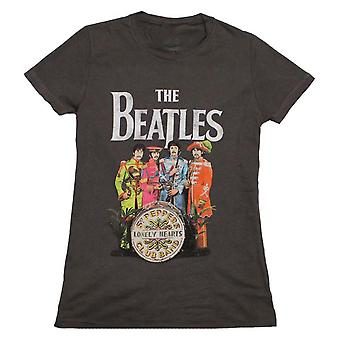 The Beatles T Shirt Beatles SGT Peppers Charcoal Juniors T-Shirt