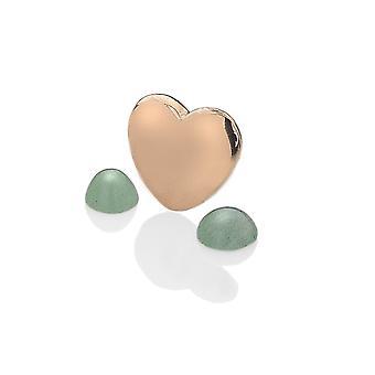 Diamantes calientes Anais Anais oro rosa plateado plata esterlina marzo encanto AC035
