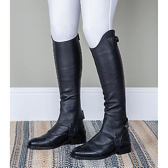 Shires Moretta Adults Leather Gaiters - Black